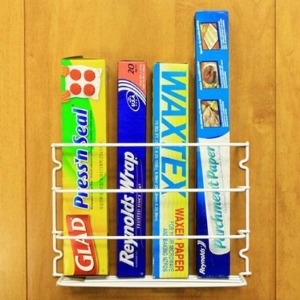 kitchen wrap organizer rack