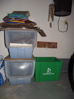 Picture 4: Recycling center in garage