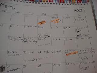 Calendaring due dates