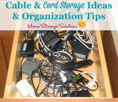 Cable Cord Storage Ideas, Cable Box Storage Ideas