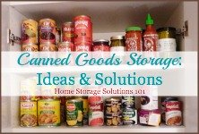 canned goods storage ideas and solutions