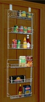 over the pantry door shelves