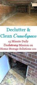 Declutter & Clean Your Crawlspace