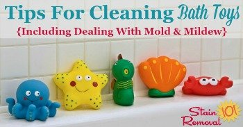 Tips for cleaning bath toys
