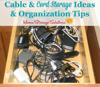 Cable and Cord Storage Ideas & Organization Tips