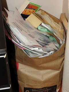 Bag for home office for paper recycling