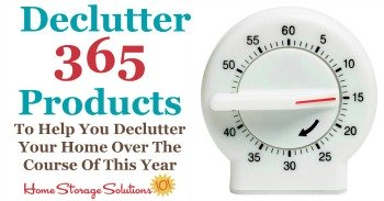 Declutter 365 products to help you declutter your home over the course of the year