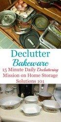 How To Declutter Bakeware