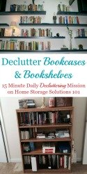 How To Declutter Bookcases