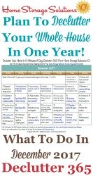 December Declutter Calendar