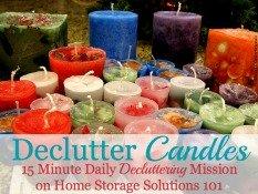 Declutter Candles