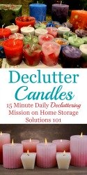 How To Declutter Candles