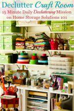 Declutter Craft Room