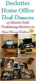 How To Declutter Desk Drawers