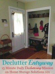 Declutter Your Entryway