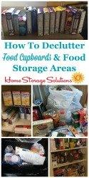 Declutter Food Cupboards