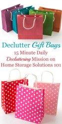 Declutter Gift Bags