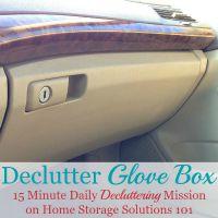 Declutter Glove Box
