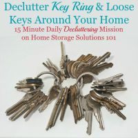 declutter key ring mission