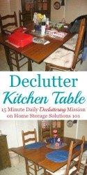 Declutter Kitchen Table