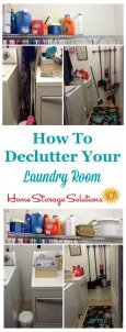 Declutter Laundry Room