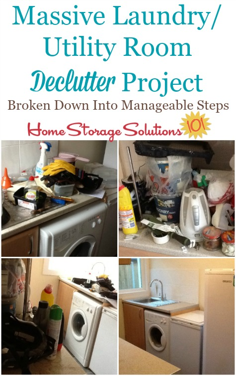 massive laundry/utility room declutter project
