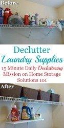 Declutter Laundry Supplies