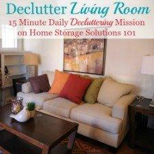 Declutter Your Living