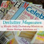 Declutter Magazines