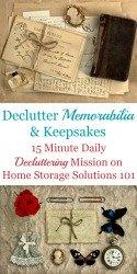 Declutter Memorabilia & Keepsakes
