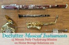 Declutter Musical Instruments