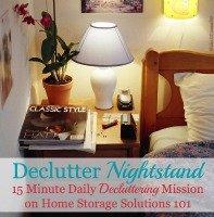 Declutter Your Nightstand