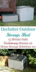 Declutter Outdoor Storage Shed