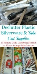 Declutter Take Out Supplies