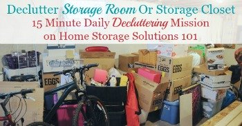 How to declutter a storage room or storage closet