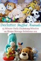 Declutter Stuffed Animals