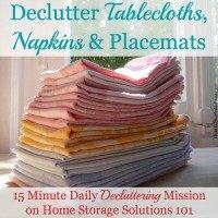 Declutter Tablecloths