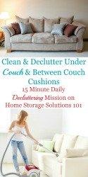 Declutter Under Couch