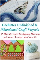 Declutter Abandoned Craft Projects