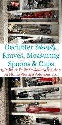How To Declutter Utensils