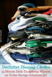 Declutter Your Closet Hanging Clothes