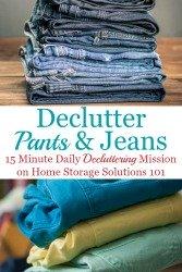 Declutter Your Wardrobe Of Pants