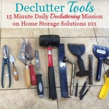 Tips For Decluttering Tools