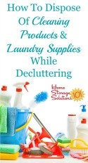 how to dispose of cleaning products and laundry supplies