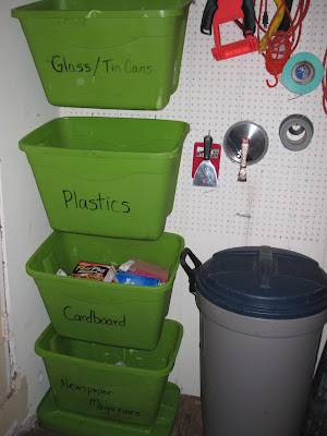 Recycling Bin And Containers