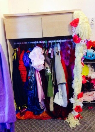 DIY dress up closet using old dresser
