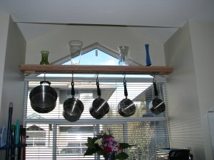 After - Hanging pot rack