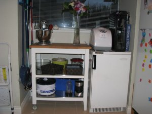 After - on kitchen cart