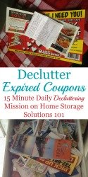 Declutter Expired Coupons