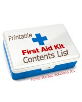 First Aid Kit Contents List